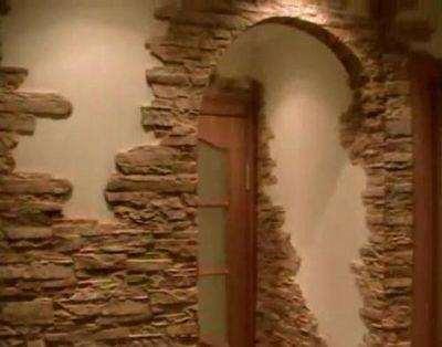 Як клеїти декоративний камінь на кутах