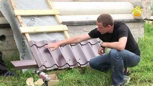 Як зробити покрівлю з металочерепиці