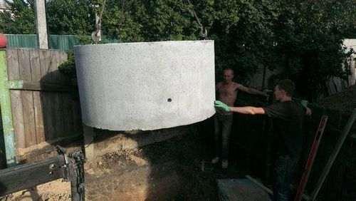 Як зробити септик з бетонних кілець