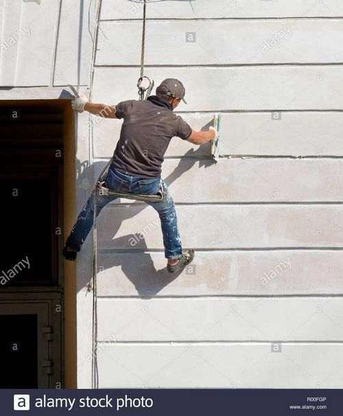 Как замазать фасад