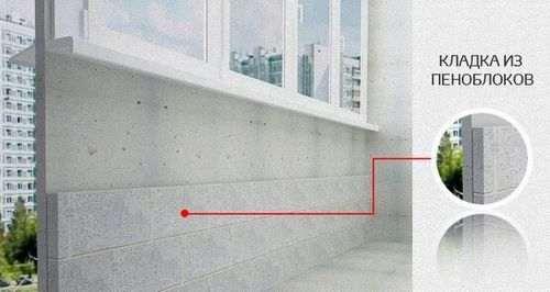 Кладка піноблоків на балконі