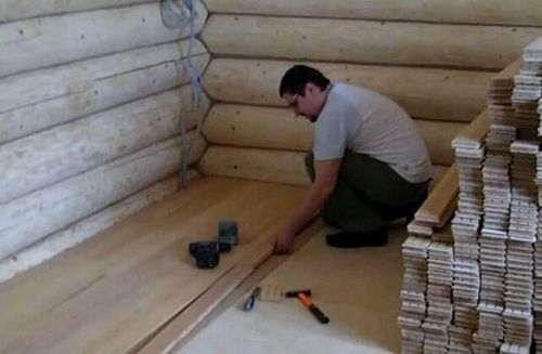 Монтаж підлоги з шпунтованої дошки