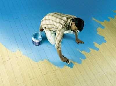 Оригінальне фарбування дерев'яної підлоги