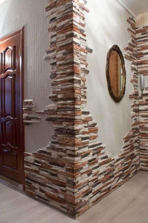 Оздоблення дверей декоративною плиткою