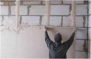 Оздоблення стін з газобетону гіпсокартоном