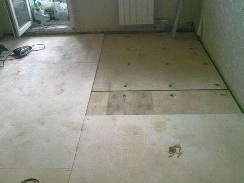 Укладання фанери на дерев'яну підлогу