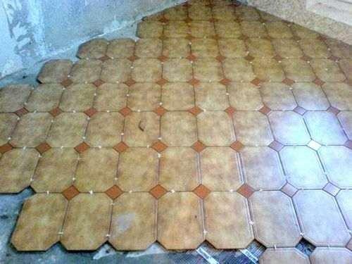 Укладання плитки на підлогу по діагоналі
