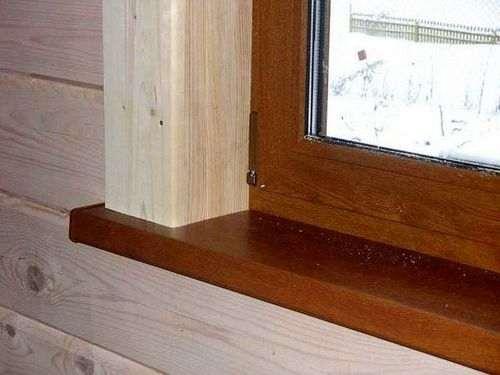 Укоси вікон в дерев'яному будинку