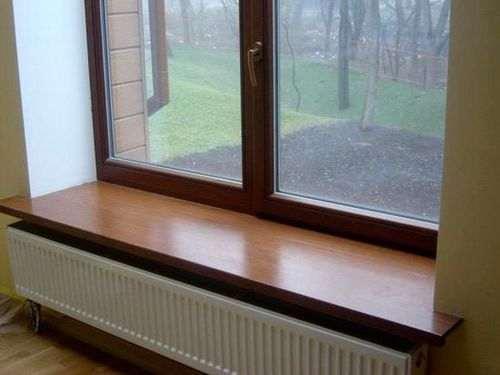 Установка підвіконня в дерев'яному будинку
