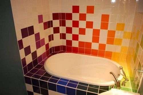 Ванна плитка і фарбування
