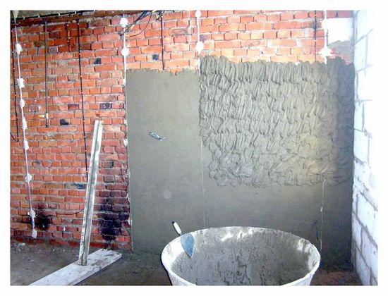 гіпсова, штукатурка, цементної