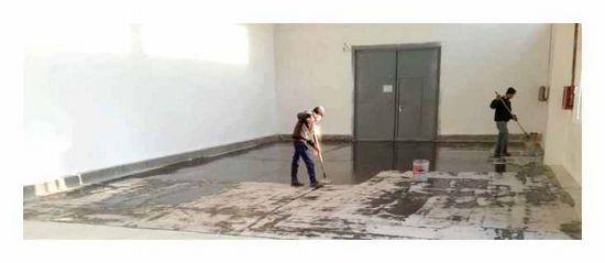 стелити, лінолеум, бетонну, підлогу